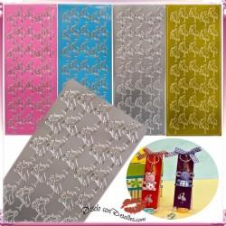 Cigüeñas Adhesivas de Colores