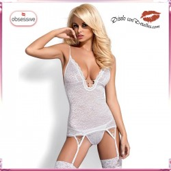 Corset Diamond Blanco o Negro Bordado