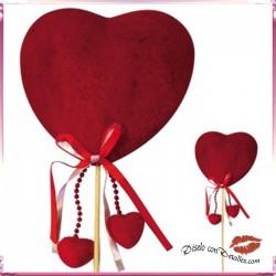 Pick Corazón Terciopelo