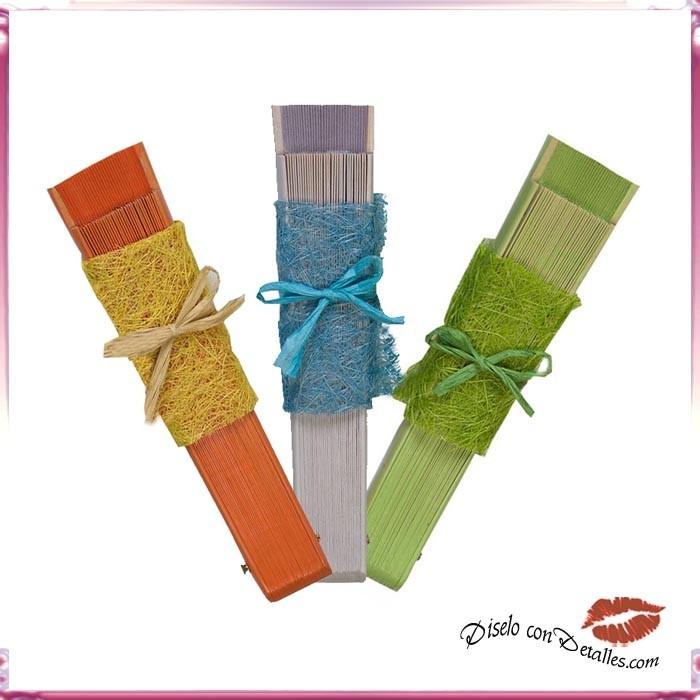 Decoraciones para abanicos con lazo de rafia diselo con for Decoracion con abanicos