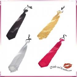 Corbatas Lentejuelas adaptable 4 Colores
