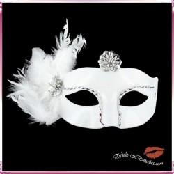Mascara Veneciana Acabado Blanco