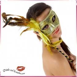 Mascara Veneciana Acabado Dorado