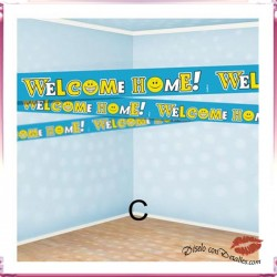 Cinta Adhesiva Welcome Home 7.5 cm x 6 M