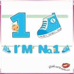 Baner I'M Nº 1 Azul