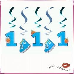 5 Cintas Decorativas Primer Año Azul