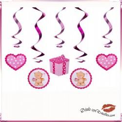 5 Cintas Decorativas Fiestas Infantiles Rosa