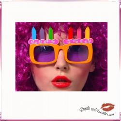 Gafas Tarta de Cumpleaños
