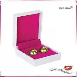 Bolas de Metal Oro Ben Wa 3 Tamaños