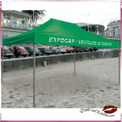 Carpa  3x4,5 Mt de Acero Plegable 420D
