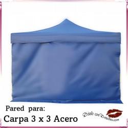 Pared Azul para Carpa Acero 3x3