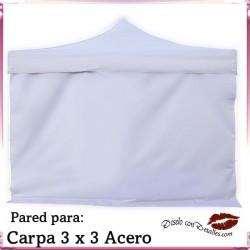 Pared Blanca para Carpa Acero 3x3