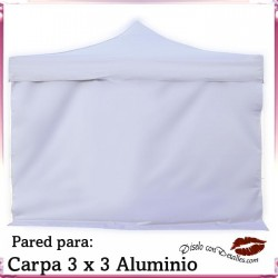Pared Blanca para Carpa Aluminio 3x3 Mt