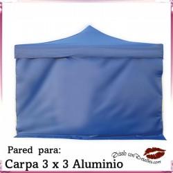 Pared Azul para Carpa Aluminio 3x3 Mt