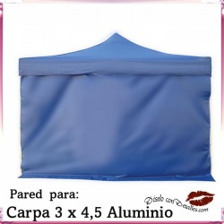 Pared Azul para Carpa Aluminio 3x4,5 Mt