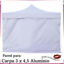 Pared Blanca para Carpa Aluminio 3x4,5 Mt