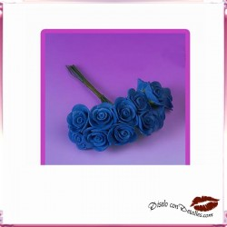 Ramillete 12 Rosas Azules