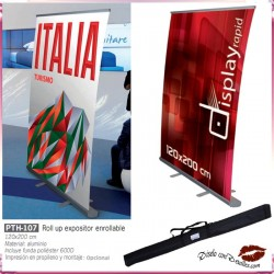 Roll up Expositor Enrollable 120x206 cm