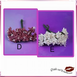 Ramilletes 12 Flores Blanco o Granate