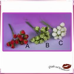 Rosas Cerradas Tres Colores