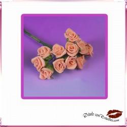 Ramillete Rosas Color Salmon