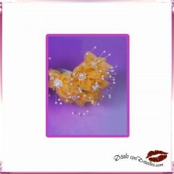 Ramillete Flores Amarillas con Perlitas