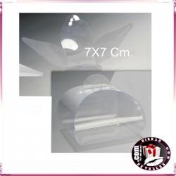 Caixa de Acetate Transparente 7 x 7