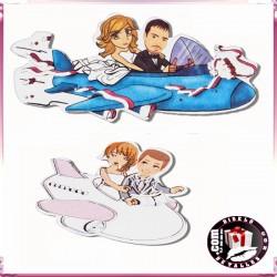 Stickers Boda Aviones