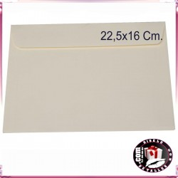 Sobres Crema Tarjetones Boda 22,5 x 16 cm