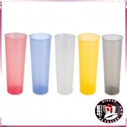 Vasos de Tubo Plástico Colores