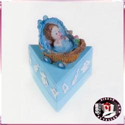 Cajas Cartón con Peladillas y Muñeco de Resina