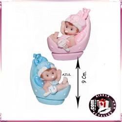 Figura Bebe con Cuna