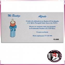 Invitación Bautizo Niño Biberón