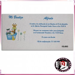 Invitación Bautizo con Juguetes