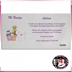 Invitación Bautizo con Juguetes Niña
