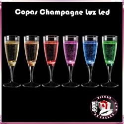 Copas Champagne Luz Led 6 uds