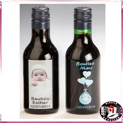 Botellas De Vino Para Regalar En Bautizos.Botellas De Vino 12 5 Cl Personalizadas Para Bautizos