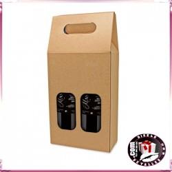 Cajas Cartón Ventana para 2 Botellas