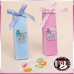 Cajas Bautizo Niño o Niña con Caramelos