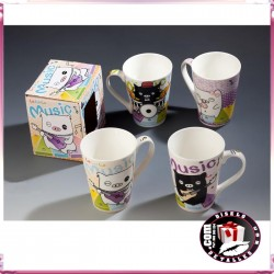 Taza Cerditos Rockeros