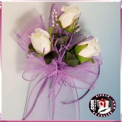 Lazada con Rosas Crema