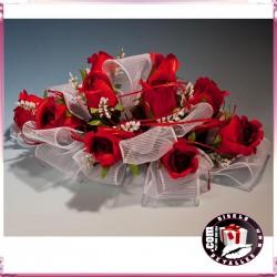 Centro con Rosas Vermelhas