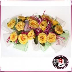 Centro con Rosas Amarillas