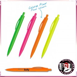 Boligrafo Plástico Neon Fluor