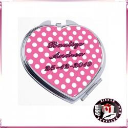 Espejos Corazón Personalizados para Bautizos