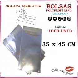 Bolsa Celofán Solapa Adhesiva 35 x 45 cm (1000 Uds)