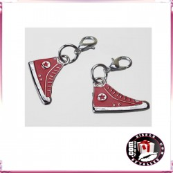 Abalorios de Metal Zapatillas estilo Converse