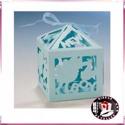 Cajas Azules para Bautizos 6 x 9 cm