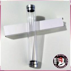 Estuche Transparente Cilindrico Plastico 1 Pz