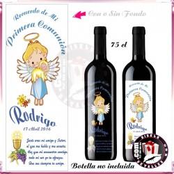 Adhesivo Vinilo para Botella de Vino 3/4
